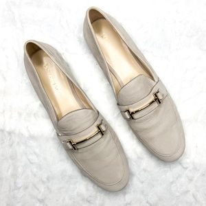 Enzo Angiolini Tatye Nubuck Leather Loafers Shoes